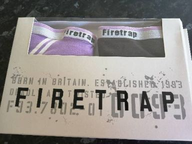 Firetrap 2 pack Ladies Brief size XS