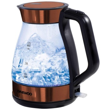 Copper Glass Kettle 1.7L