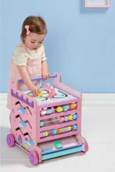 Pink 8-In-1 Activity Learning Cart