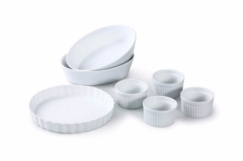 7 Piece White Porcelain Baking set