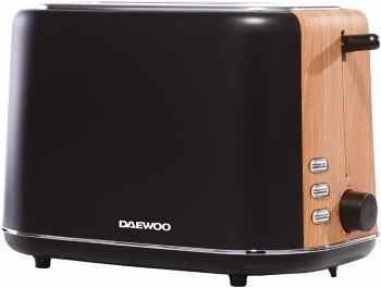 New ProdDaewoo SDA1743 Stockholm 2 Slice Matte Finish Wood Effect Toasteruct