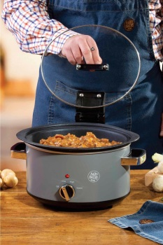 Hairy Bikers 3.5L Sear and Stew Hinged Lid Slow Cooker