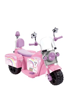 Pink Llamacorn Ride-On Electric Bike 6v