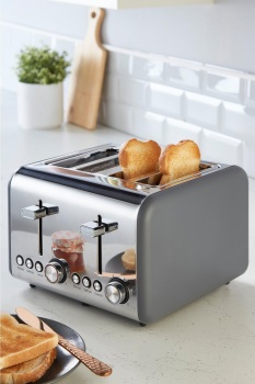 Classic Collection 4-Slice Toaster Grey