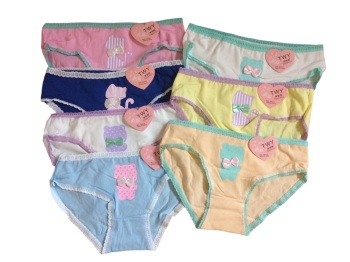Teen Girls Underwear 7 Pack  Briefs/Pants/Knickers (One Size To Fit 11-16 Yrs).