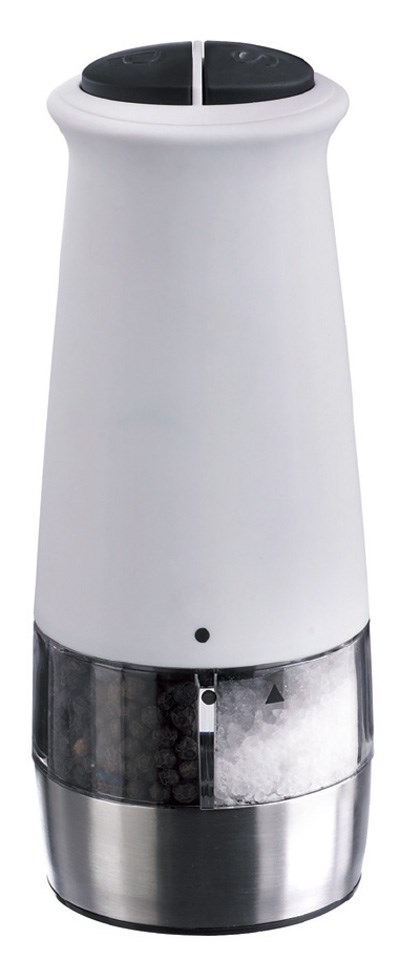 2 In 1 Salt & Pepper Mill  White