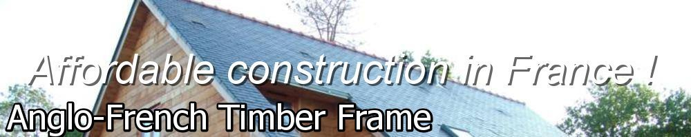 Anglo-French Timber Frame, site logo.