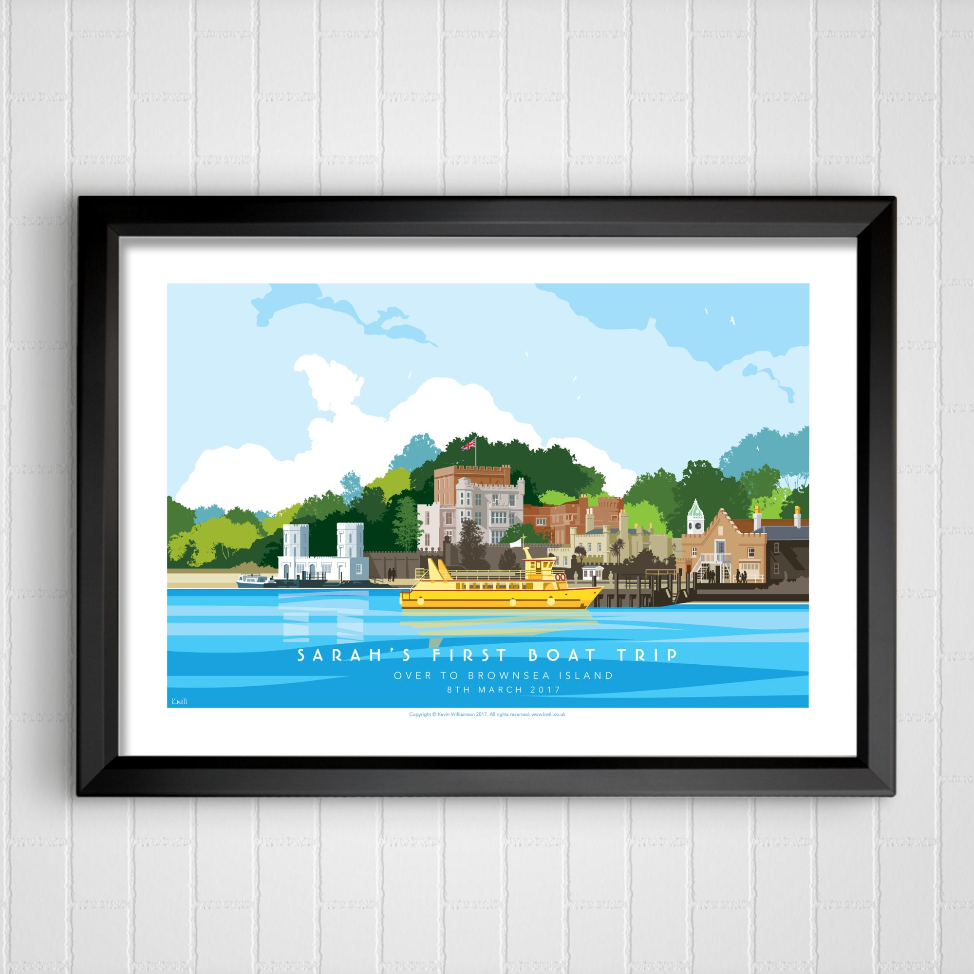 personalised art dorset brownsea