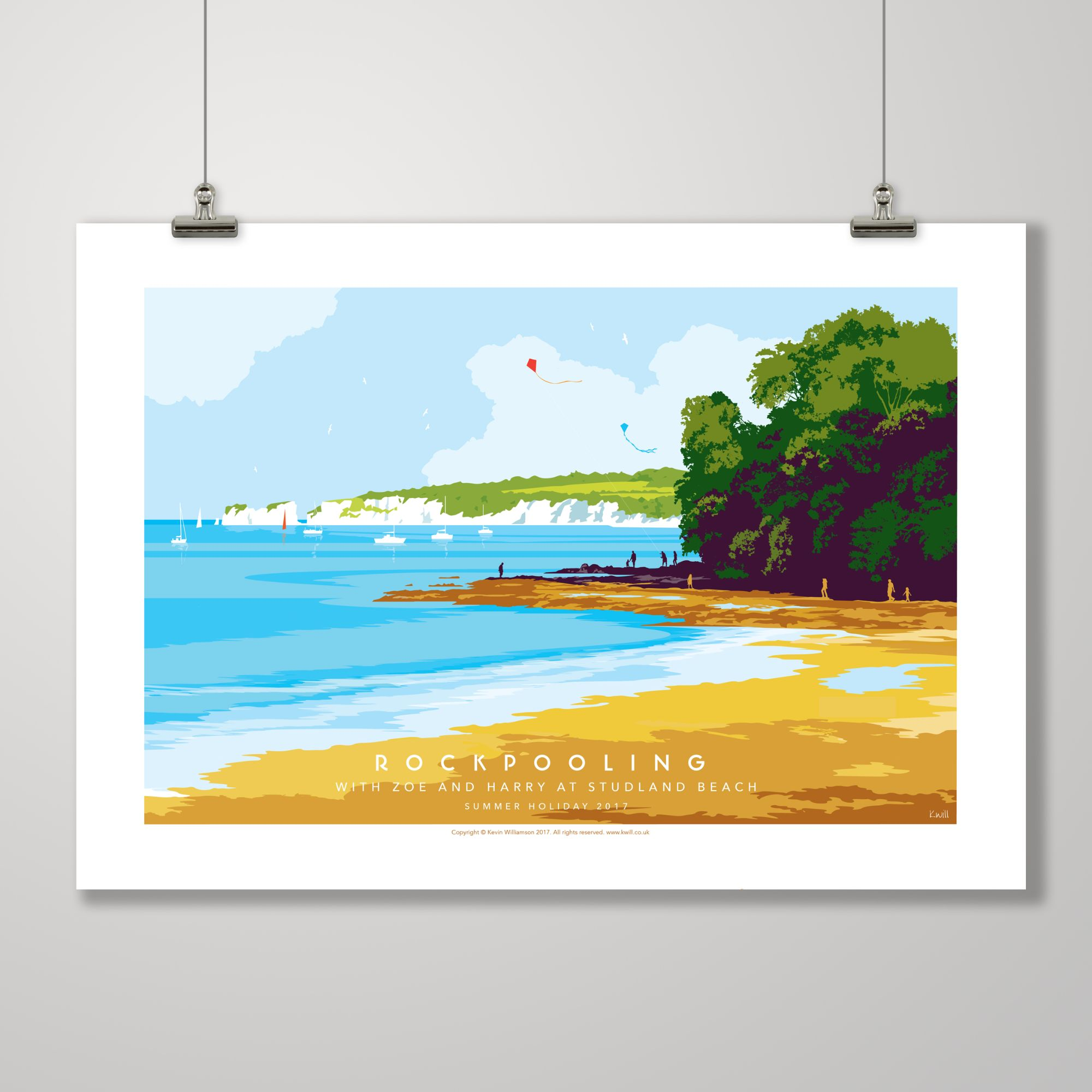 personalised art dorset studland