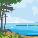 A VIEW FROM BROWNSEA ISLAND