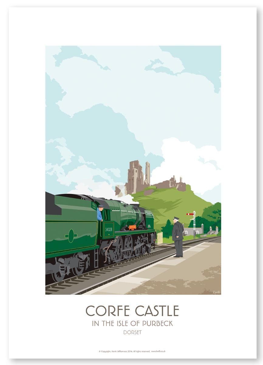 STEAM TRAIN / CORFE CASTLE