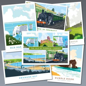 A SET OF SIX POSTCARDS