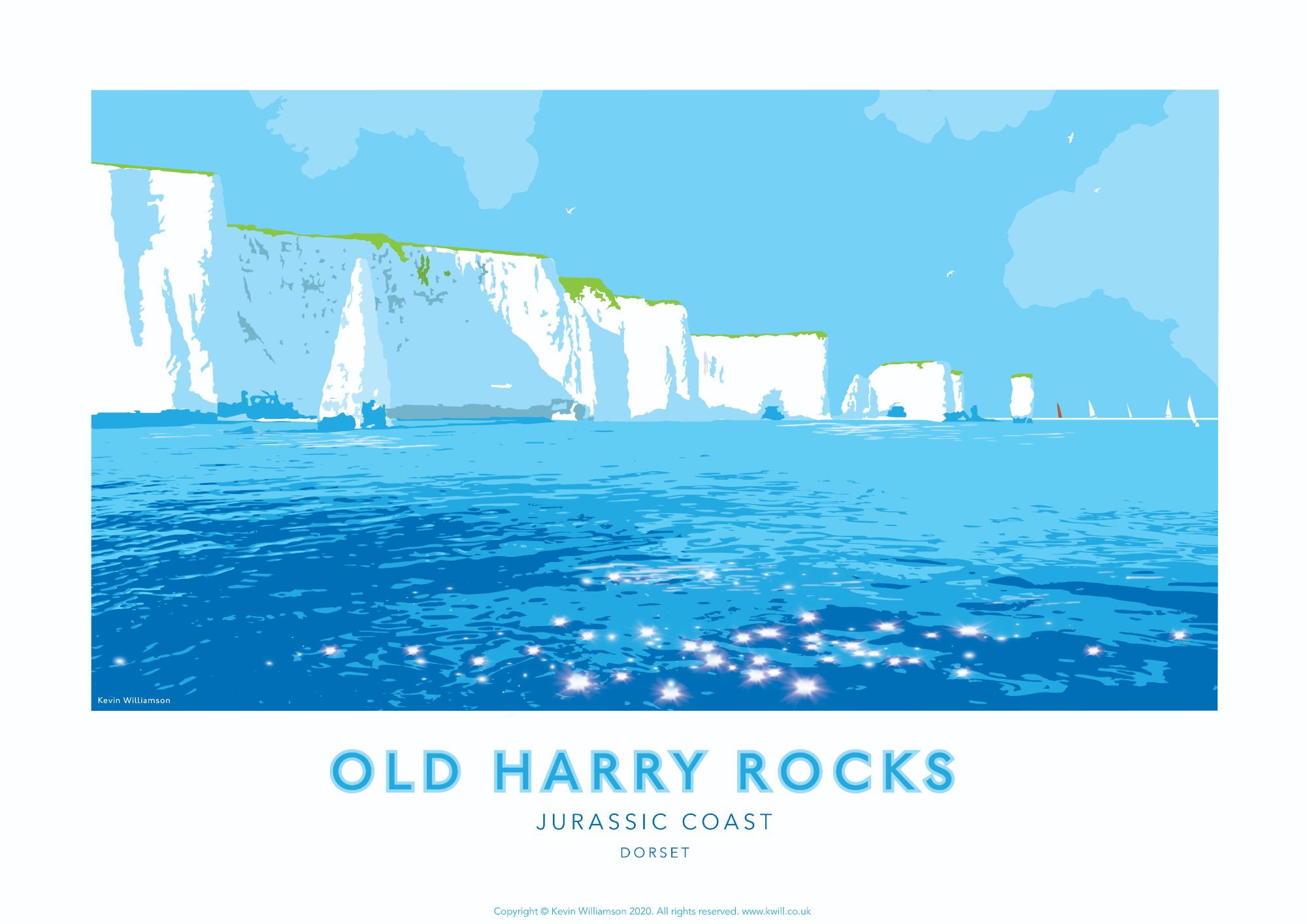 Old Harry Rocks, Dorset Print