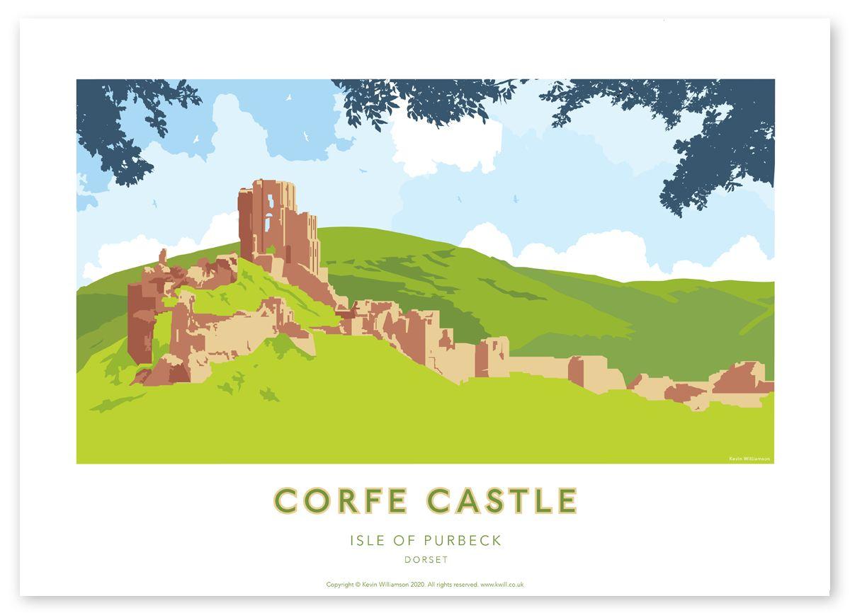 Illustration of Corfe Castle