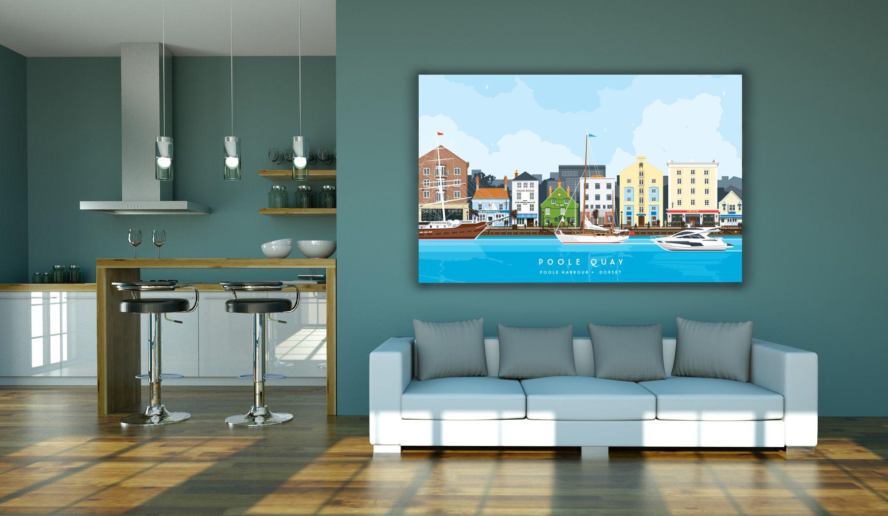 Dorset print of POOLE Quay