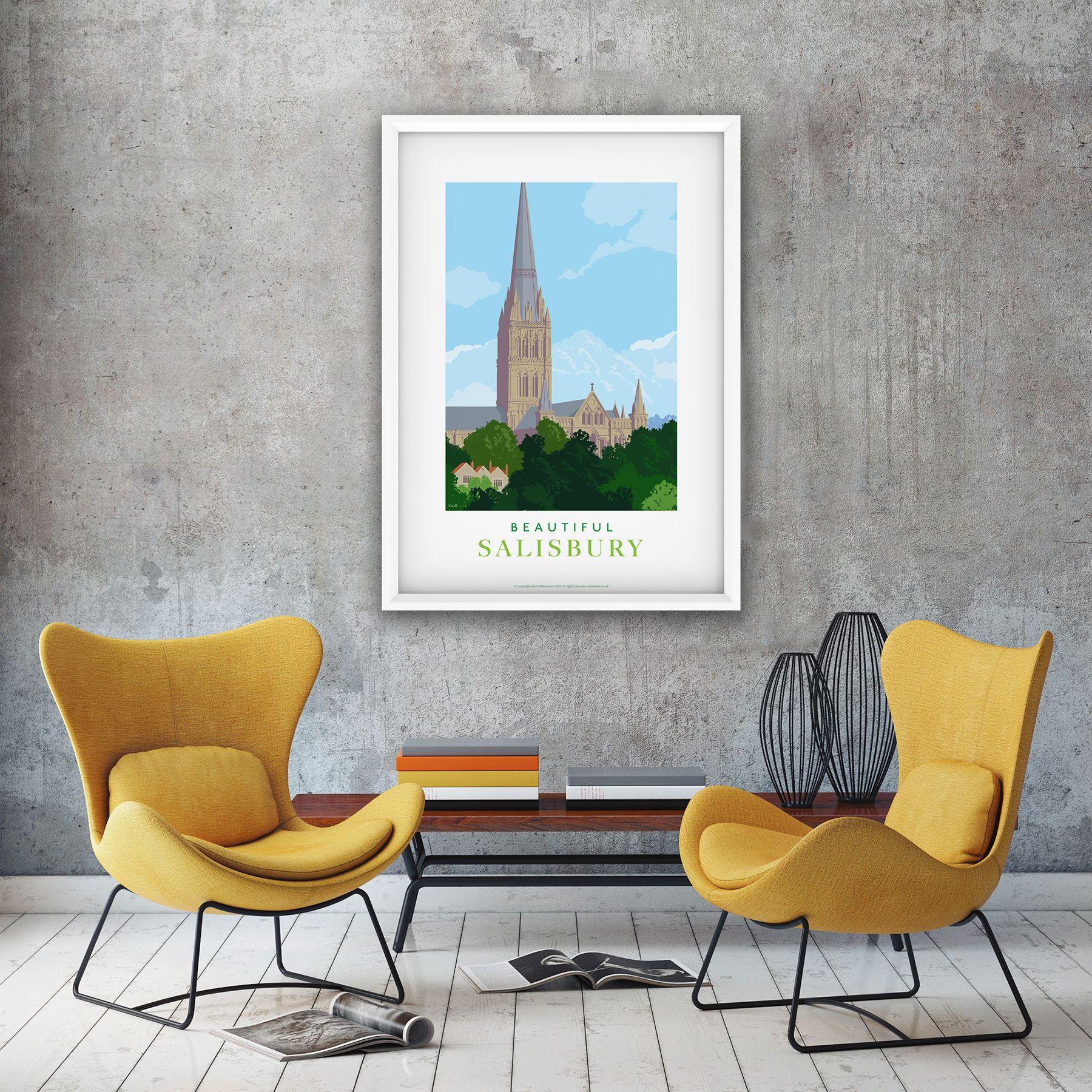 Salisbury Cathedral-illustration by Kevin Williamson