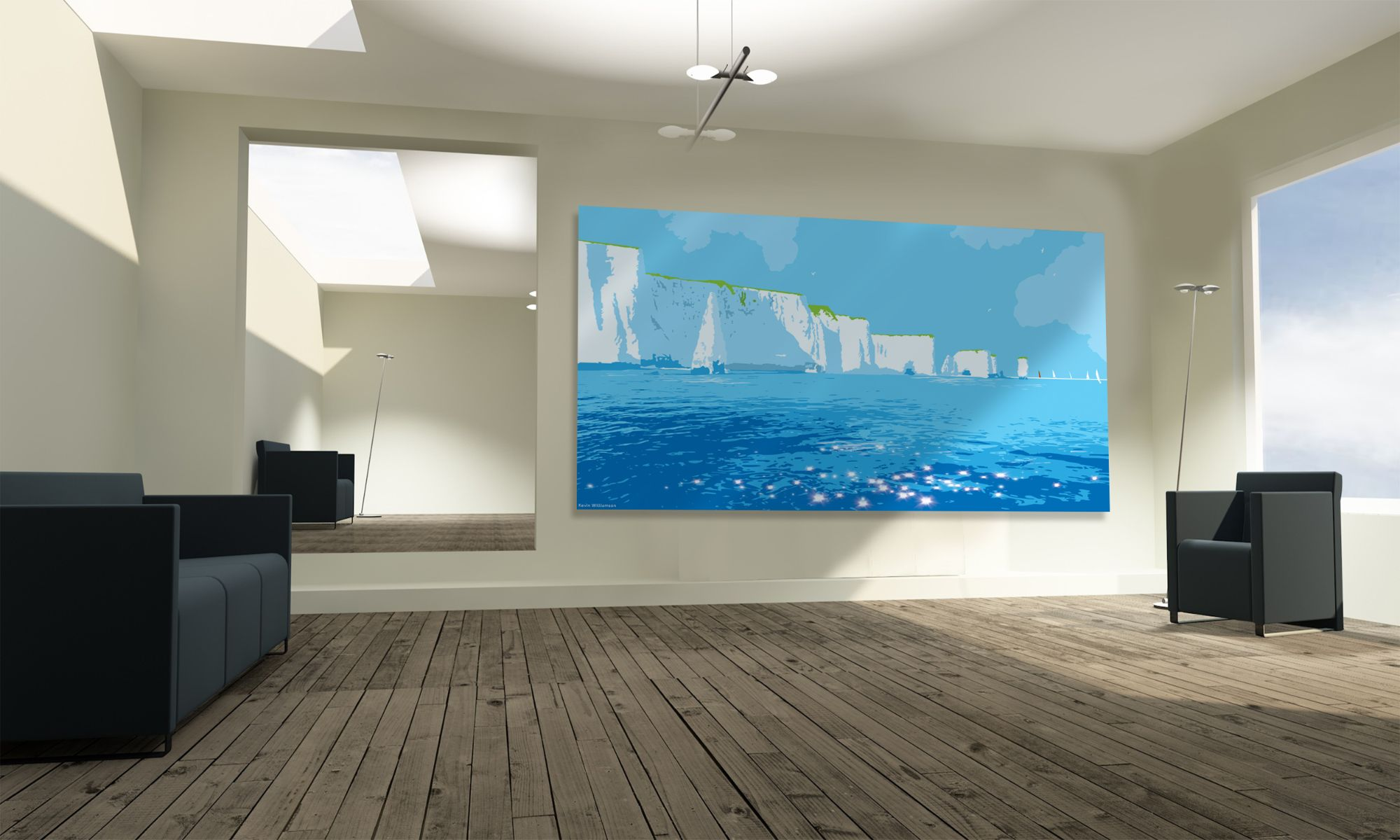 Old Harry Rocks canvas print by Kevin Willuamson