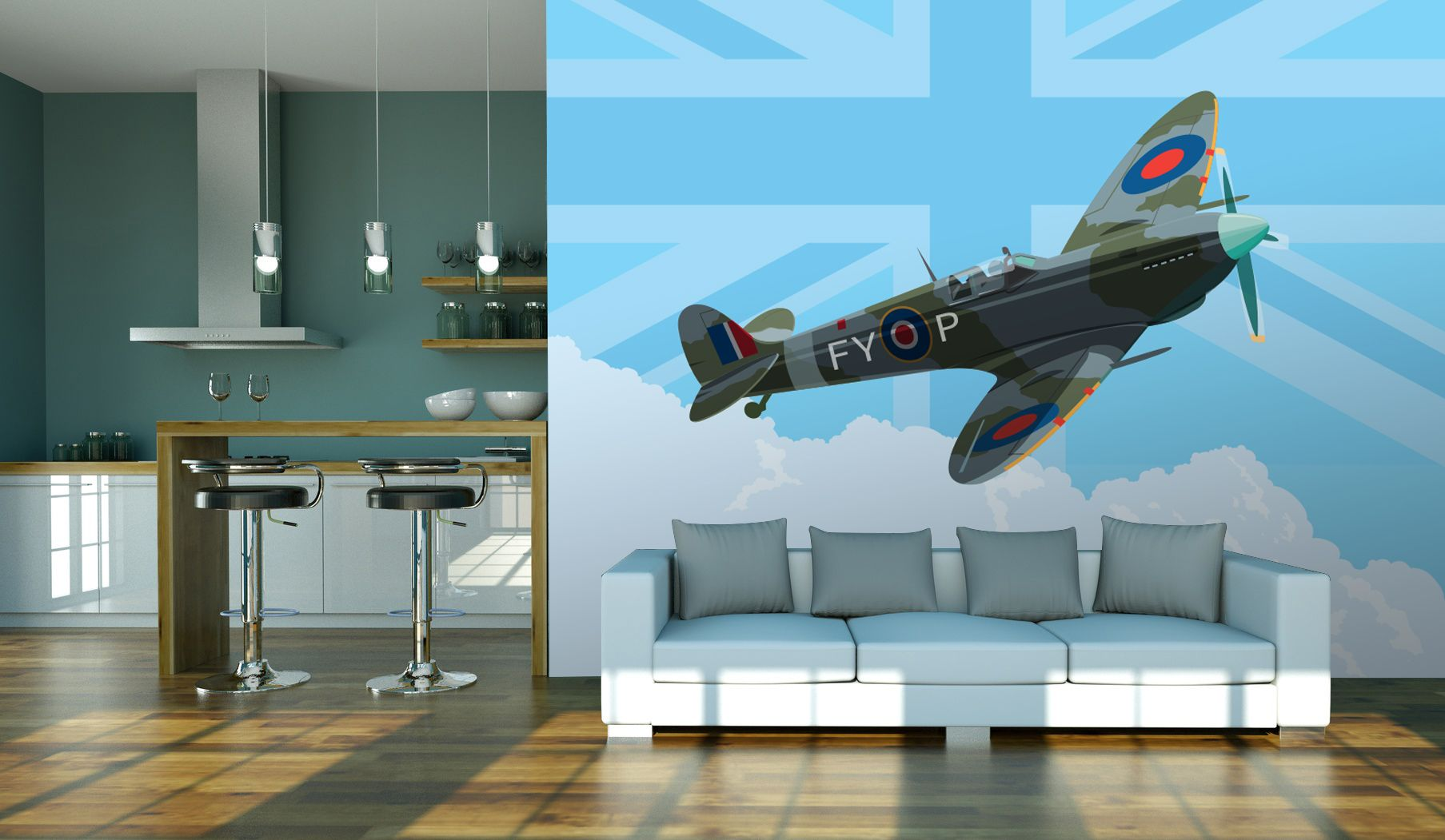 Spitfire illusration by Kevin Williamson
