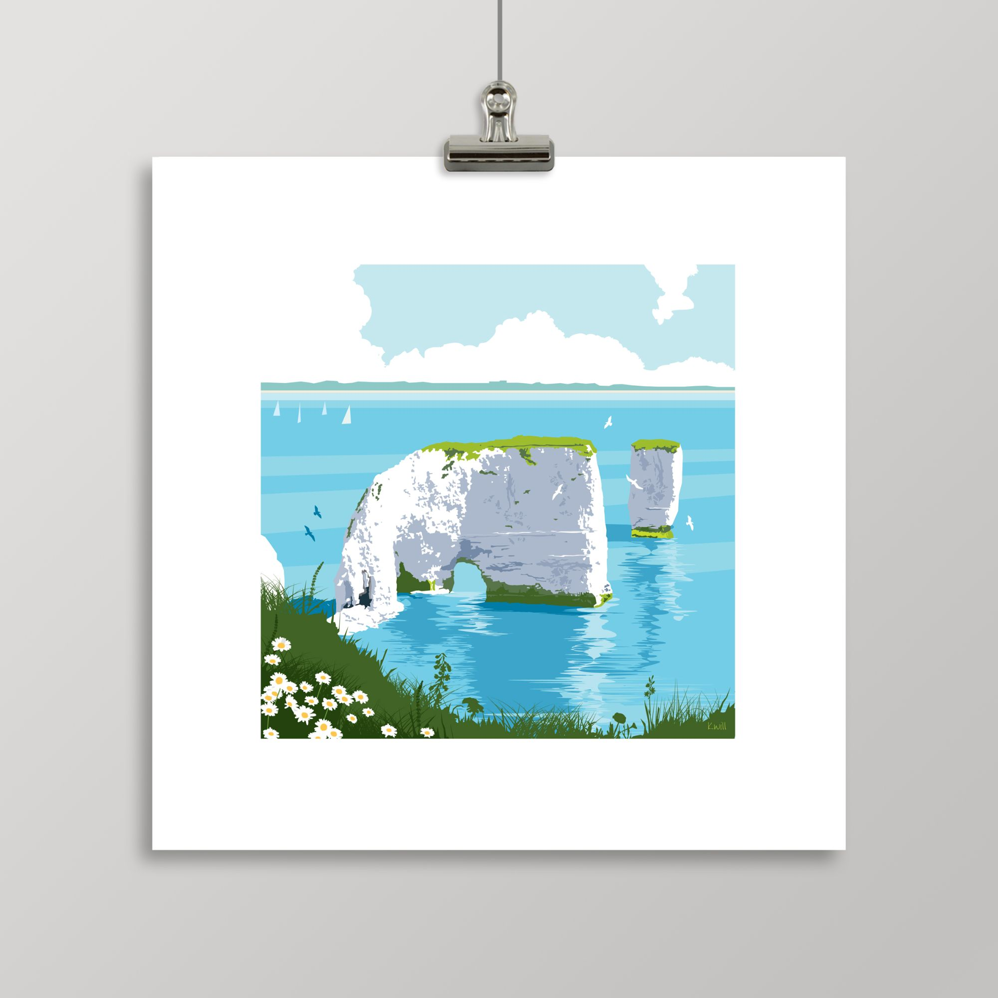OLD HARRY ROCKS ILLUSTRATION