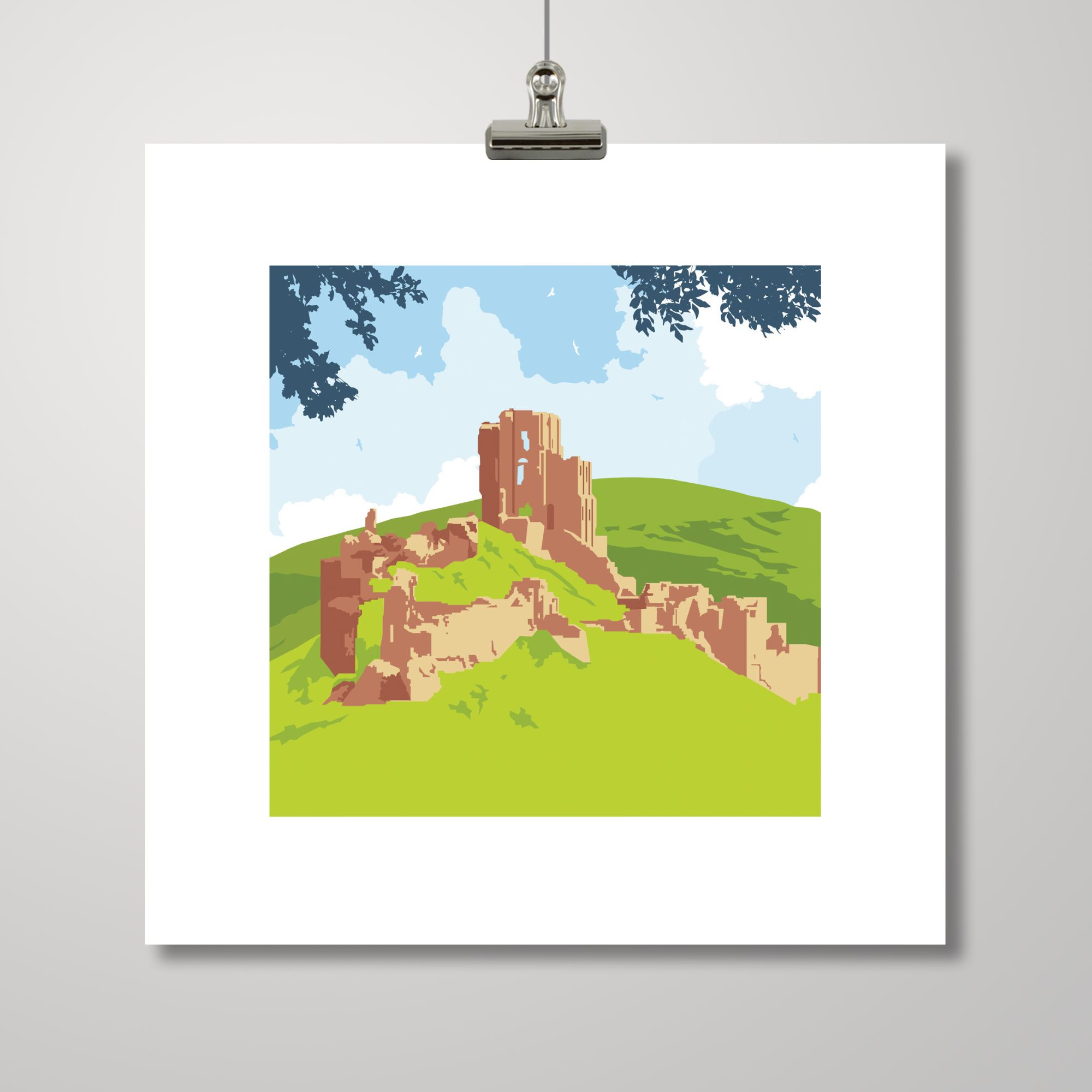Corfe Castle illustration