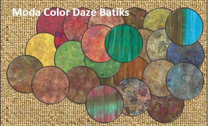 moda color daze batiks