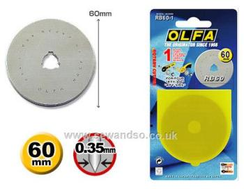 Rotary cutter spare blades RB60-1 60mm