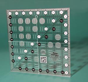 Creative Grids CGR 8-1/2 x 8-1/2 non slip ruler