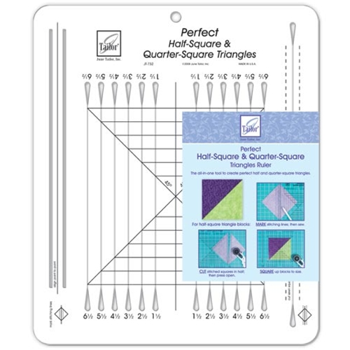JT-732 Perfect Half-Square & Quarter-Square Triangles Ruler-10-1/2