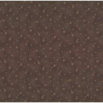 Stof 4518-306 Circles on Brown
