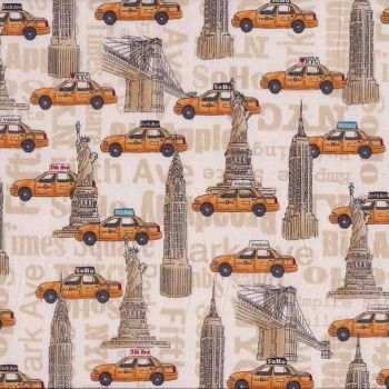 1070-1 NYC Landmarks & Taxis by Makower