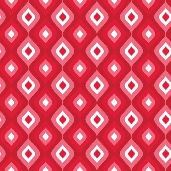 4775-10 Frosty Forest Red Jubilee Geometric