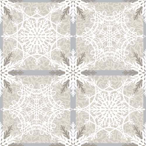 2211-33 Crystal Palace Cream Snowflake Plaid Studio E