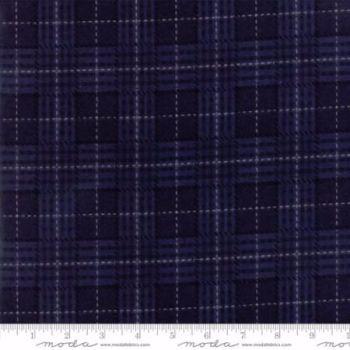 1194-11F  Wool Needle IV Bandana Blue - Dark Blue
