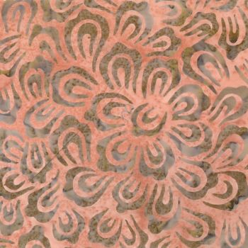 BK116-B Batik Stamp Green and Orange