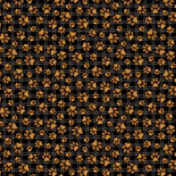 685-12 Bear Paws Black-Honey