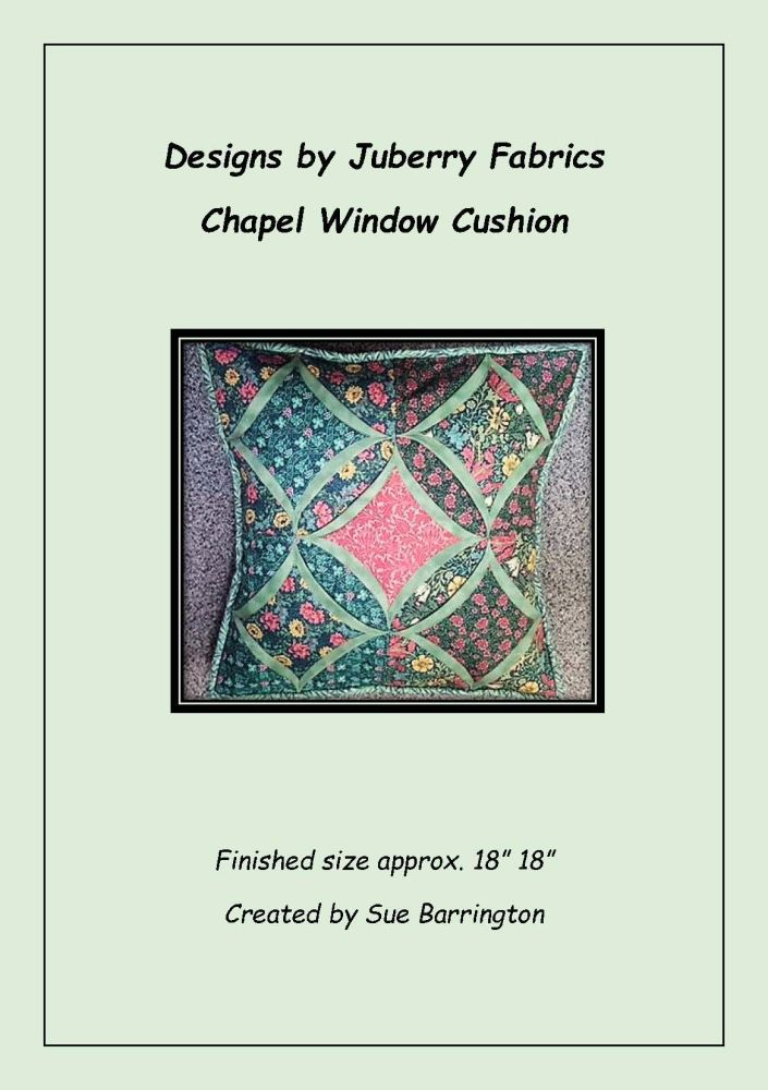 Chapel Window Cushion Pattern by Juberry Designs