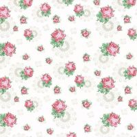 31379-10 High Tea Collection Doilie Rose on Milk