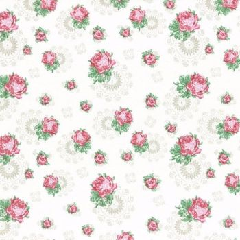 31379-10 High Tea Collection Doilie Rose on Milk