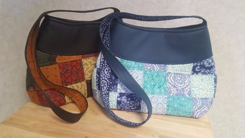 Faux Leather & Patchwork Bag - Tuesday 6th June