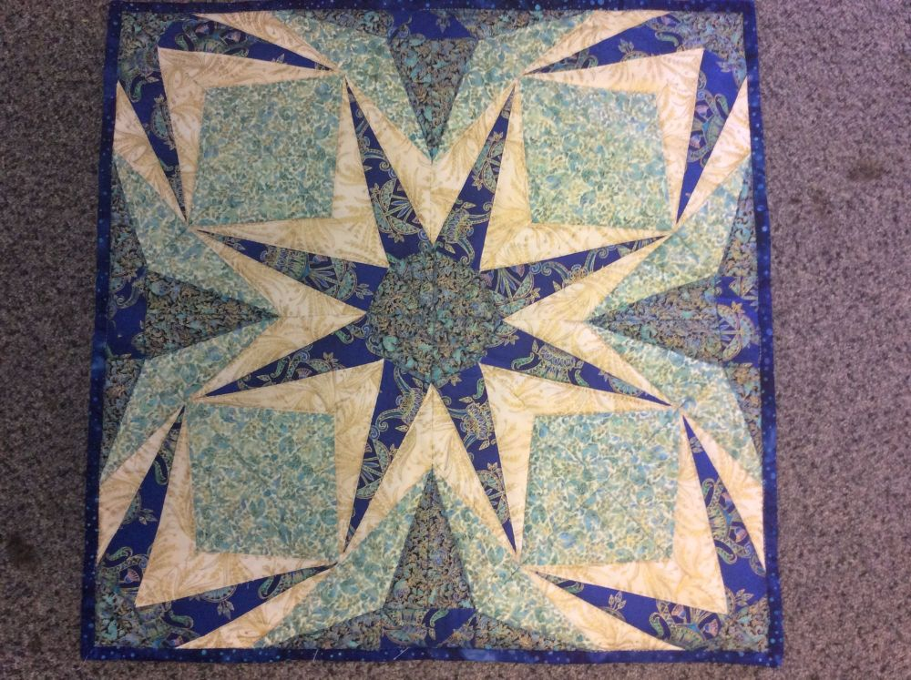 JUBSCP - The Starburst Cushion Pattern from Juberry Fabrics
