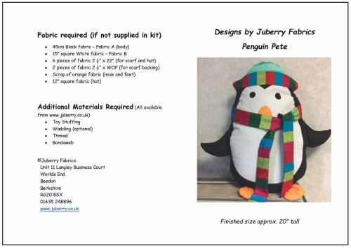 JUBPP - Penguin Pete a Design by Juberry Fabrics