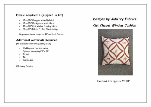 Cat Chapel Window Cushion Pattern by Juberry Designs