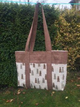 Boris Bear Tote Bag Pattern by Juberry Fabrics