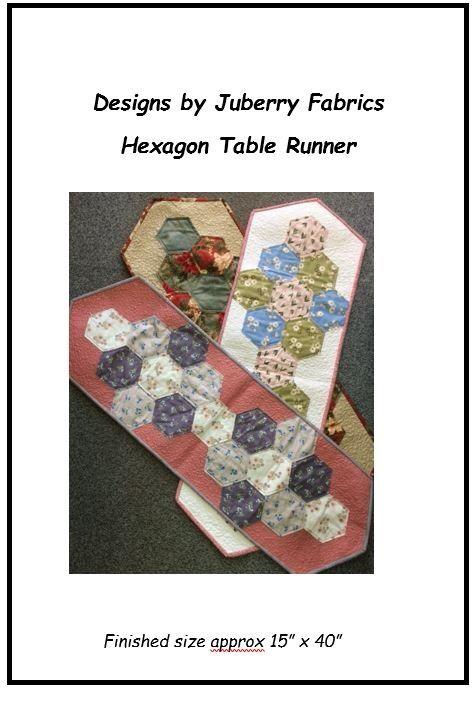 Hexagon Table Runner Pattern Only