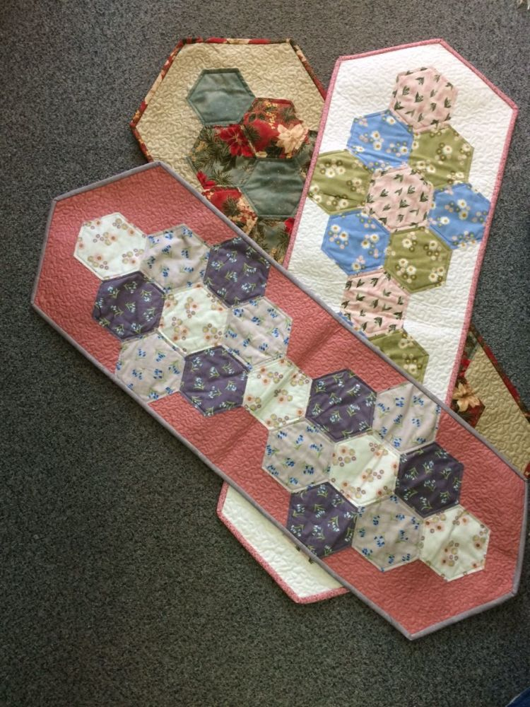 Hexagon Table Runner Pattern Only