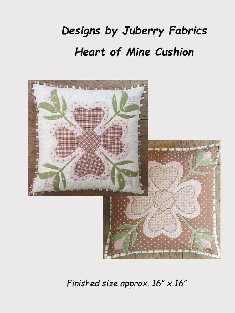 Heart of Mine Cushion Pattern by Juberry Designs
