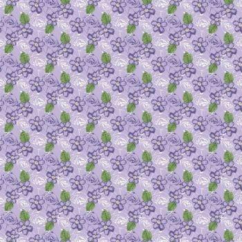FF243-2 Floral Purple
