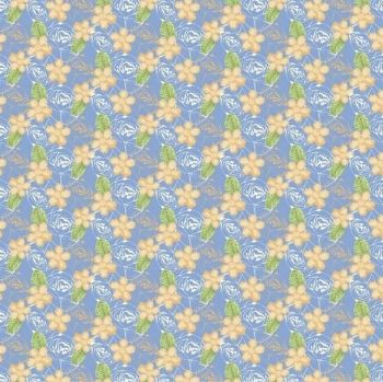 FF243-3 Floral Yellow and Blue