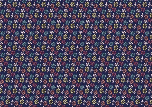 FF287-2 Multi Colour Daisy on Purple