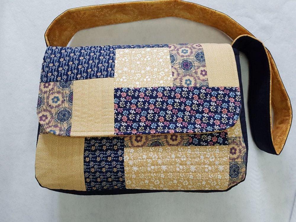 Messenger Bag Pattern designed by Juberry Fabrics